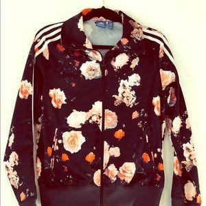 Adidas flower power track jacket size M